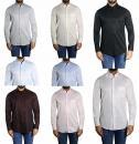 Diagonal gestreiftes Herren Hemd