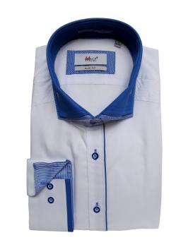 Slim-Fit Herrenhemd Button down Kragen