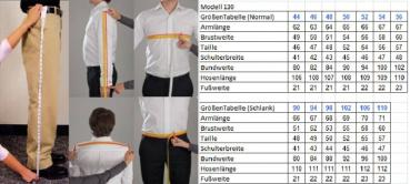 Slim-fit Herrenanzug 2-Schlitz Grau