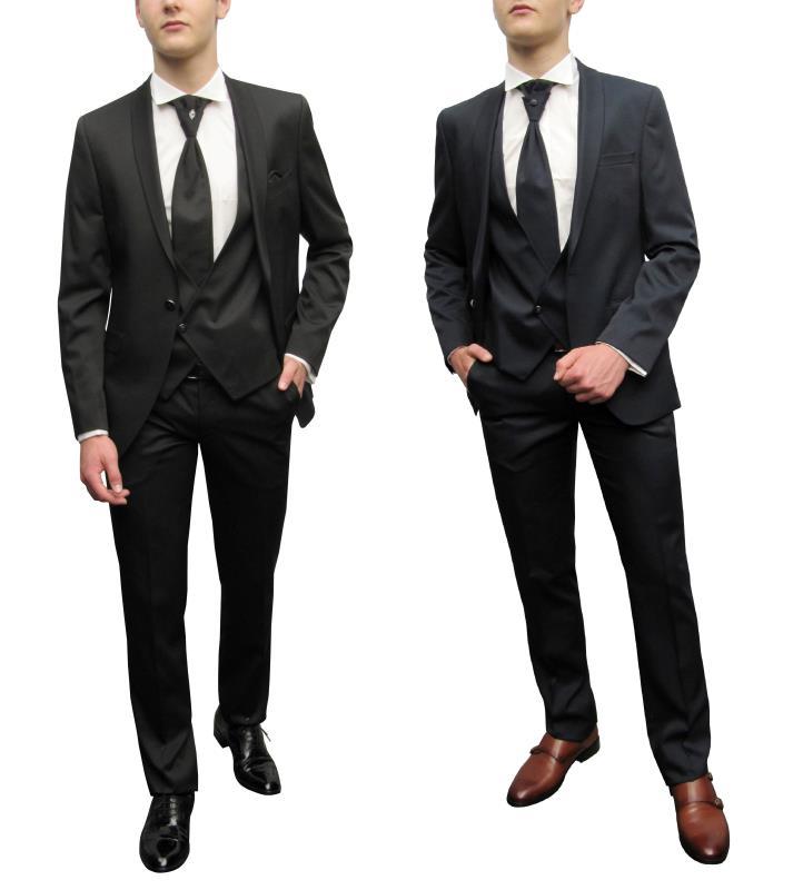 Herrenausstatter online kaufenSchalkragen Herren Anzug Slim fit